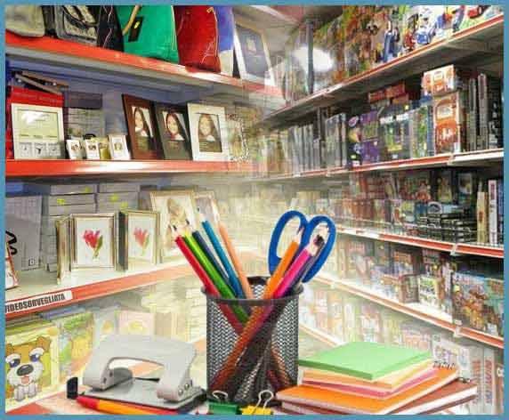 stocchista cartoleria giocattoli articoli regalo